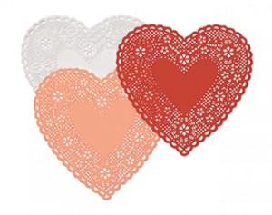 6 Inch Heart Doilies