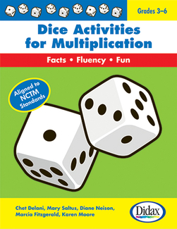 Picture of Dice activities for multiplication  resource book gr 3-6