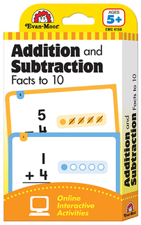 Picture of Flashcard set addition and  subtraction fact to 10