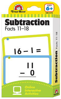 Picture of Flashcard set subtraction facts 11  to 18