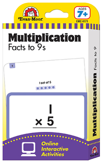 Picture of Flashcard set multiplication facts  to 9s