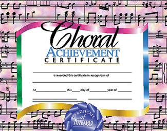Picture of Certificates choral 30/set  achievement certificate