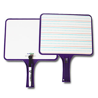 Picture of Kleenslate dry erase paddles 2pk  rectangular set