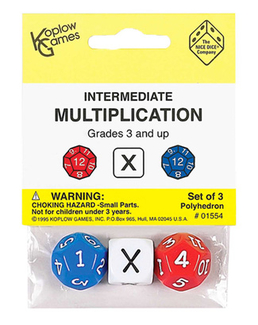 Picture of Intermediate multiplication dice  3pk