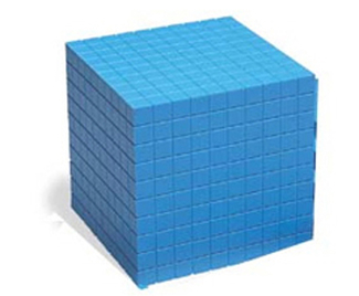 Picture of Base ten cube plastic bl 10x10x10cm