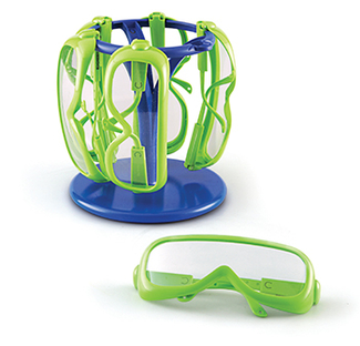 Picture of Primary science safety glasses 6  set in a stand