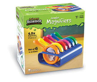 Picture of Primary science jumbo magnifiers  set of 6 in a stand