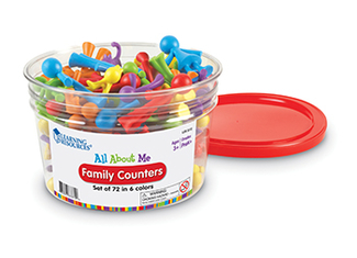 Picture of All about me family counters 72 set