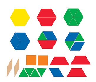 Picture of Giant magnetic pattern blocks set  of 47