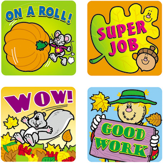 Picture of Stickers fall fun 120/pk acid &  lignin free