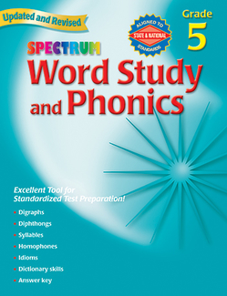 Picture of Spectrum word study & phonics gr 5