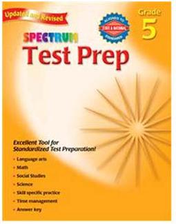 Picture of Spectrum test prep gr 5