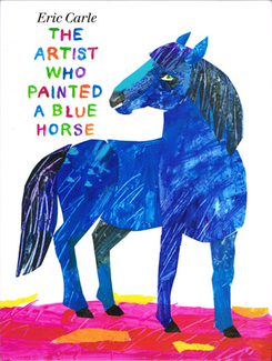 Picture of The artist who painted a blue horse  book