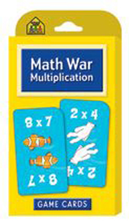 Picture of Math war multiplication game cards