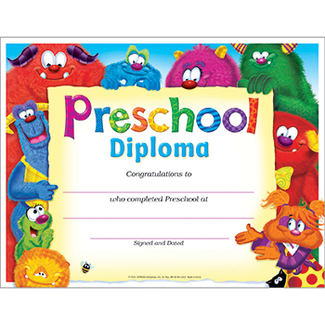 Picture of Preschool diploma furry friends