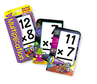 Picture of Pocket flash cards 56-pk 3 x 5  multiplication two-sided cards
