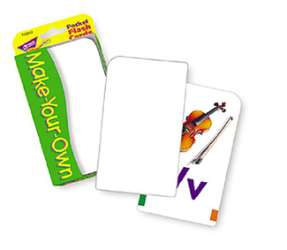 Picture of Pocket flash cards make 56-pk  your own 3 x 5 two-sided cards
