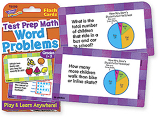 Picture of Challenge cards test prep math  gr 1-3 word problems