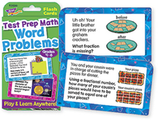 Picture of Challenge cards test prep math  gr 4- 6 word problems