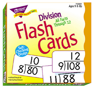 Picture of Flash cards all facts 156/box 0-12  division