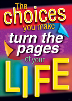 Picture of The choices you make turn the pages  of your life argus large poster