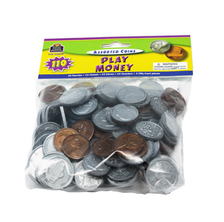 Picture of Play money assorted coins