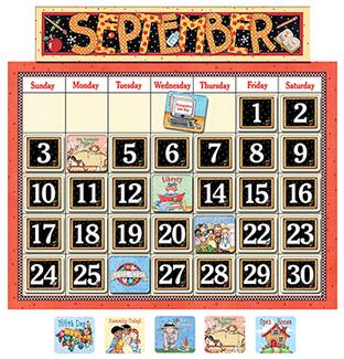 Picture of Classroom calendar bulletin board