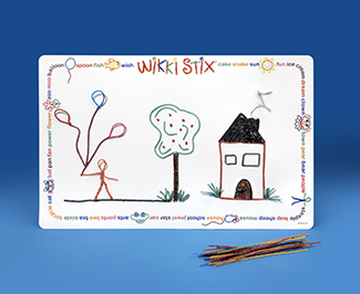 Picture of Wikki stix laminated play mat 14x22