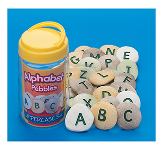 Picture of Uppercase alphabet pebbles