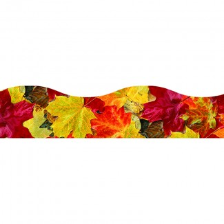 Picture of Fall leaves terrific trimmers new  wave