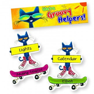 Picture of Groovy classroom jobs mini bbs  featuring pete the cat