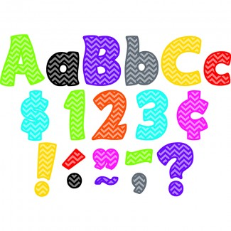 Picture of Chevron funtastic 4in letters combo  pack