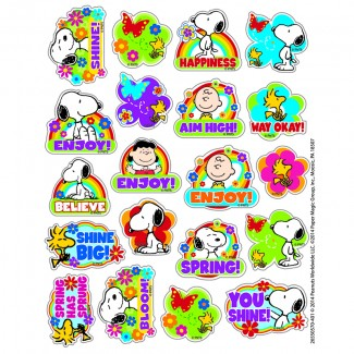Picture of Peanuts spring theme stickers