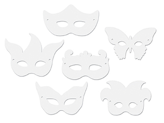 Picture of Die cut mardi gras masks 24pk
