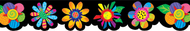 Poppin patterns spring flowers  shapes border
