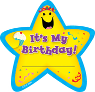 Star badges its my birthday 36/pk