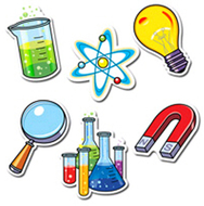 Science lab designer cut outs