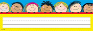 Smiling stick kids name plates