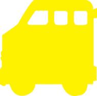 Calendar cut-outs school bus