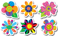 Poppin patterns spring flowers 6in  designer cut outs