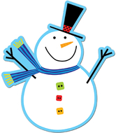 Snowman 6in cut outs