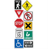 Street signs 10in designer cut outs