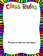 Class rules chart 17 x 24