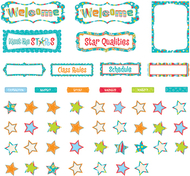 Our class stars dots on turquoise  bb set