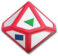 10 sided polyhedra write & wipe die