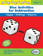 Dice activities for subtraction  resource book