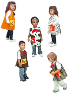 Animals toddler set cat dog cow  horse & chicken dress ups