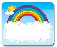 Name tags sun n rainbow