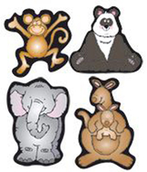 Zoo friends shape stickers
