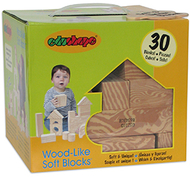 Wood like soft blocks set of 30